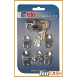 CERRADURA BUZON BTV CROMO KIT 7 LENGUE Nº1 3/15