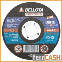 DISCO CORTE ACERO BELLOTA 50300-115 1MM INOX